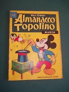 ALMANACCO TOPOLINO 1958 NUM 3 OTTIMO