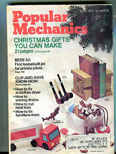 Popular Mechanics Magazine November 1973 Christmas Gifts VG 032416jhe