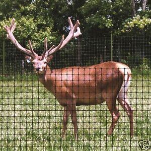 1.8m x 100m H Duty Deer Pheasant Poultry Game Garden Black Netting Fencing Mesh
