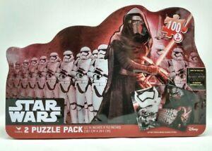 Star Wars 2 Pack Puzzle Kylo Ren & Storm Troopers 100 Pcs Collectors Tin 18708FB