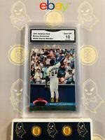 1991 Stadium Club Rickey Henderson - 10 GEM MT GMA Graded Baseball Card