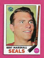 1969-70 TOPPS # 80 SEALS BERT MARSHALL GOOD CARD (INV# C4647)