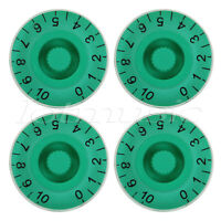 4 Pcs Speed Control Knobs Dial Knobs Guitar Control Knob Green for Guitar Parts