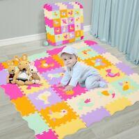 16+16+4 Baby Play Mat w/ Fence Interlockin Foam Floor Tiles W/ Crawling Mat