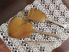 New ListingVintage Gold Flower Design Mirror, Brush & Comb Dresser Set