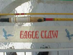 NOS New in Pkg Eagle Claw Fly Rod Denco Super IV 8.5 ft Wright & McGill