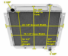 1958-1984 Land Cruiser FJ40 Radiator, Polished Aluminum 3 Row Champion Radiator