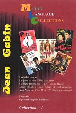 Jean Gabin  Collection 1 .  5 Movies French, English Subtitles NTSC 2DVD's  set.
