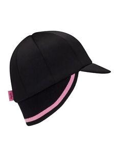 RAPHA Cross Winter Bike Hat Cap Hup-Hup Small/Medium Merino Wool Black Pink