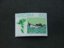 Faroe Islands 1977 Fishing Vessels 100ore black, light green & green SG23 UM/MNH