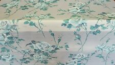 """Teal Floral Pattern Sheer Fabric!!  49"""" Wide!!  FREE SHIPPING!! (415)"""