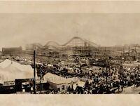 1911 Destruction of Dreamland Coney Island New York Vintage Panoramic Photograph