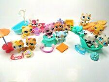 Littlest Pet Shop lot 5 Random pcs 2 Cats plus  3 Accessories plus a FREE GIFT