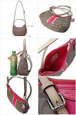New COACH F29942 Signature Stripe Demi Satchel Crossbody Handbag Shoulder Bag