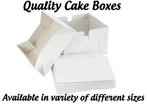 White Cake Boxes - Base + Lid Strong Cake Boxes Wedding Birthday Cake Box