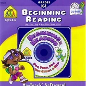School Zone Beginning Reading Grades: K - 1 PC MAC CD learn words Jog, Frog game