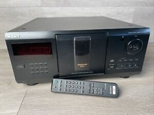 """Sony CDP-CX210 CD Changer 200 Disc """"Jukebox"""" With Remote TESTED"""