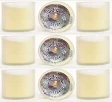 9 Bath & Body Works ~ VANILLA SNOWFLAKE ~ 1.3 oz Mini Scented Candles