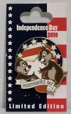 Disney 4th July Independence Day 2010 Chip & Dale Spinner 3-D Pin LE 1500 CUTE