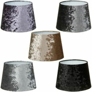Crushed Velvet Fabric Table Ceiling Shade Dual Purpose Lampshade Pendant 11""