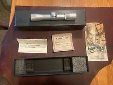Leupold Pistol Scope. Silver M8-4X28mm E.E.R 41142 Duplex. Used /Box.