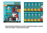 2020-21 Panini Adrenalyn Euro Soccer Kick Off Starter Album+10 Pk 96 Card + 3 LE