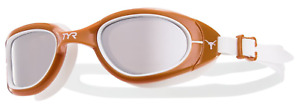 TYR Swim Goggles Texas Longhorns NCAA Brown White Special Ops 2.0 Team New Box