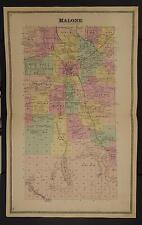 New York Franklin County Map 1876 Town of Malone Z2#29