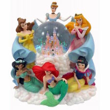 Disney Parks Princess Around The Castle Musical Snow Globe New With Box