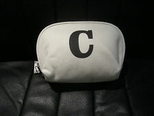 "INITIAL ""C"" NATURAL COLOUR MAKE UP BAG - COSMETIC BAG - BNWT"