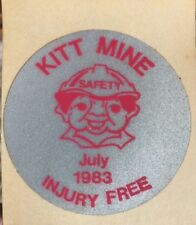 KITT ENERGY COAL VINTAGE MINING SAFETY STICKER JULY 1983 Original Decal
