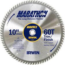 "Irwin 10"" x 5/8"" Arbor Hole 60T Marathon Miter Saw Blade Carbide Tips #9B-D0027"