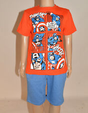 NEW Marvel Comics Captain America Boys 100% Cotton Tshirt Top Age 3-7 Years A55