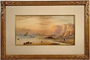 Listed Artist Edmund Darch Lewis (1835-1910) Marine Landscape Painting