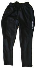 Youth Medium DIADORA Black Zip Leg Drawstring Elastic Waist Training Pants