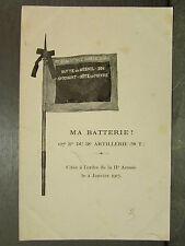 cpa militaire 127e batterie du 38e artillerie 58 t butte du mesnil 304 avocourt