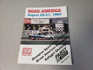 1980 Road America Elkhart Lake Pabst 500 IMSA Race Program Porsche 935