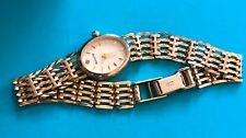 Lovely Solid Gold & Diamond Accurist Ladies Watch On Gold Gate Bracelet