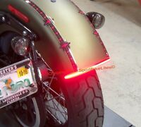 LED Run/Brake/Turn Light Bar - Harley Davidson Softail Slim/Blackline; Red Lens