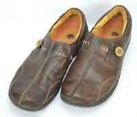 Clarks Unstructured Un.Loop Leather Loafers Shoes Womens 7.5 M Brown 85072