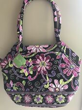 Retired Vera Bradley Purple Punch Angle Tote Bag