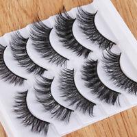 10PCS SKONHED Handmade Mixed 3D False Eyelashes Wispy Crisscross Fluffy Lashes