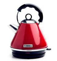Haden Boston 1.7L Stainless Steel 3000W Pyramid Kettle Red 2 Year Warranty