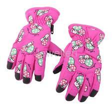 Kids Child Girls Waterproof Ski Snow Sport Thermal Fleeve Warm Mitts Gloves