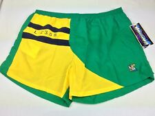 Laguna 2XL Swim Trunks Elastic & Adjustable Tie Waist Nautical Colorblock Green