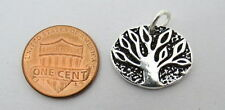 2 Pieces Silver Pendant Handmade Tree of Life Charms 20mm With Jump Rings