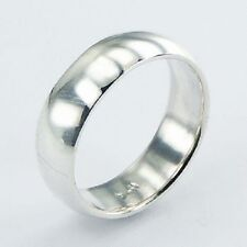 Mens Silver ring hollow dress ring Large size 9us 7mm wide stamped 925 sterling
