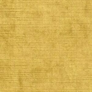 Sekers Fabrics 'Kentia', velvet upholstery fabric, old gold, remnant of 2.0m