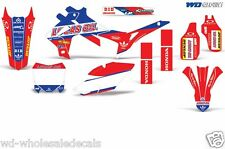 Decal Graphic Kit Honda 250/450R Dirt Bike Stickers CRF250 14-16 CRF450 13-16 LO