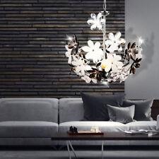 Design chrome flowers pendant lighting living room ceiling hanging light 3x E14